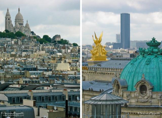 Sacré-Coeur et Conservatoire, vus des Galeries Lafayette