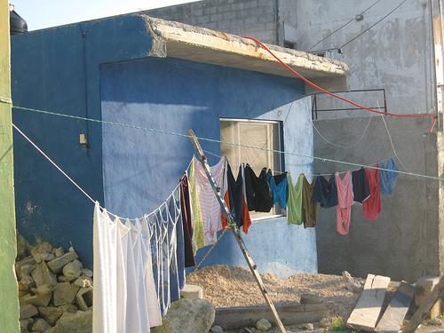 Isla Mujeres, corde à linge