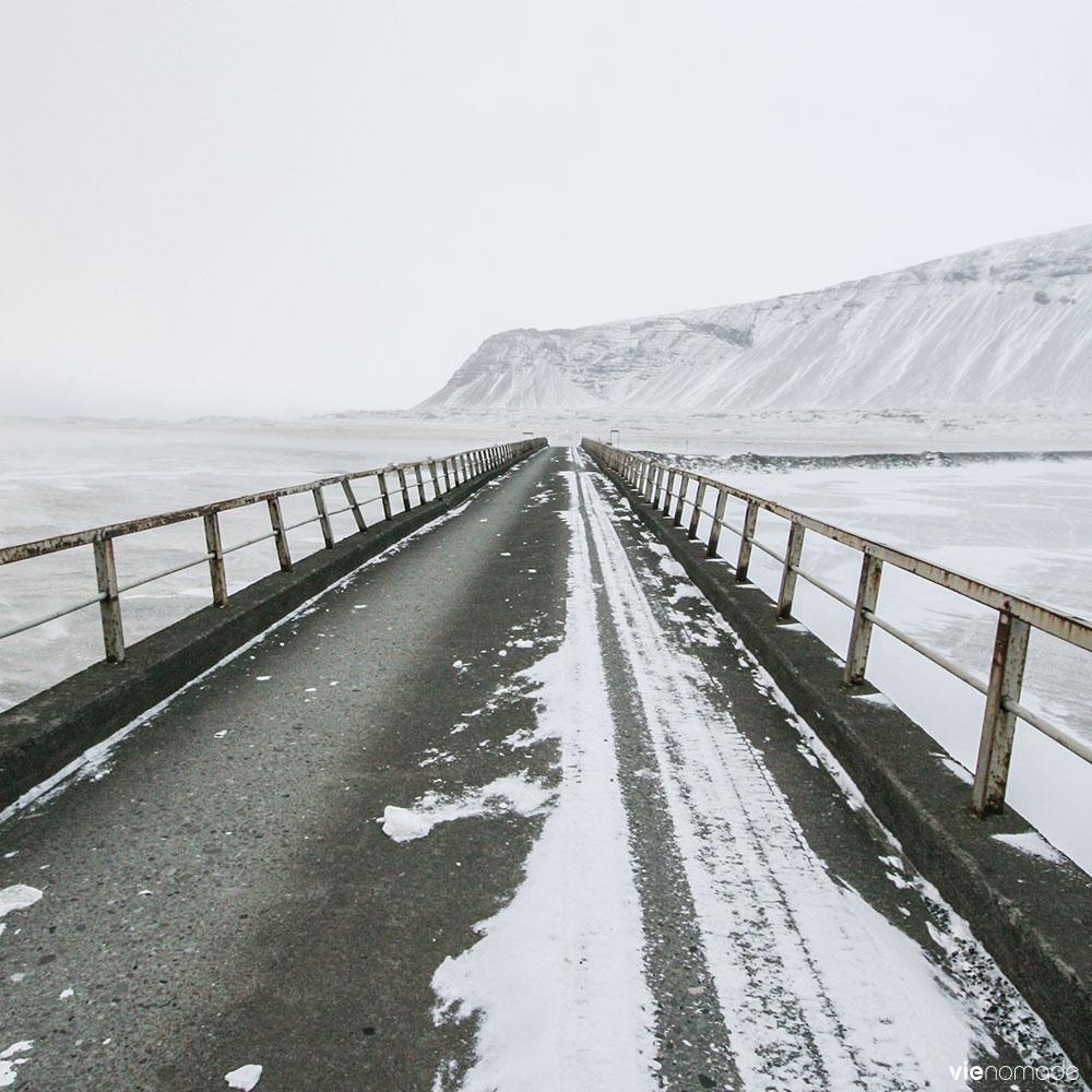 Condition des routes en Islande en hiver