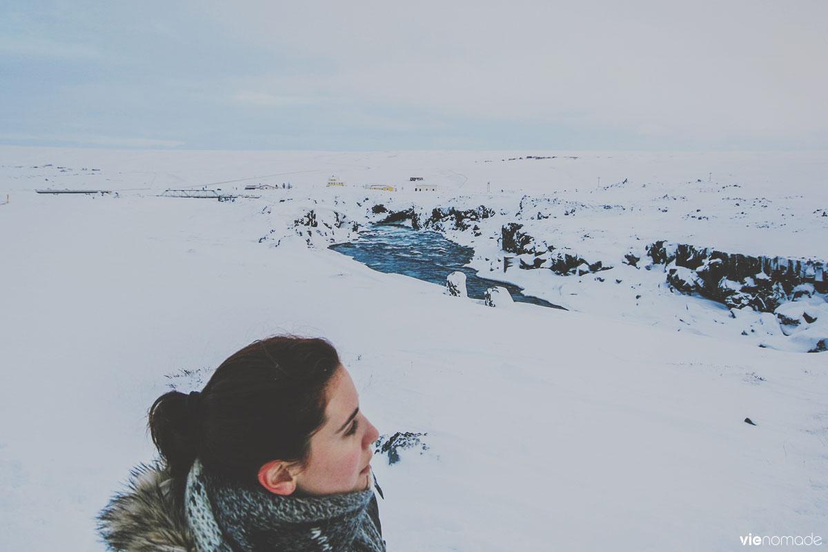 Godafoss en hiver