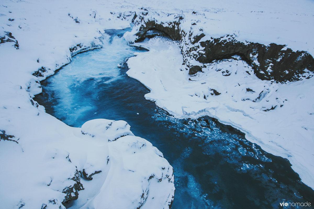 Chute d'eau Godafoss en Islande