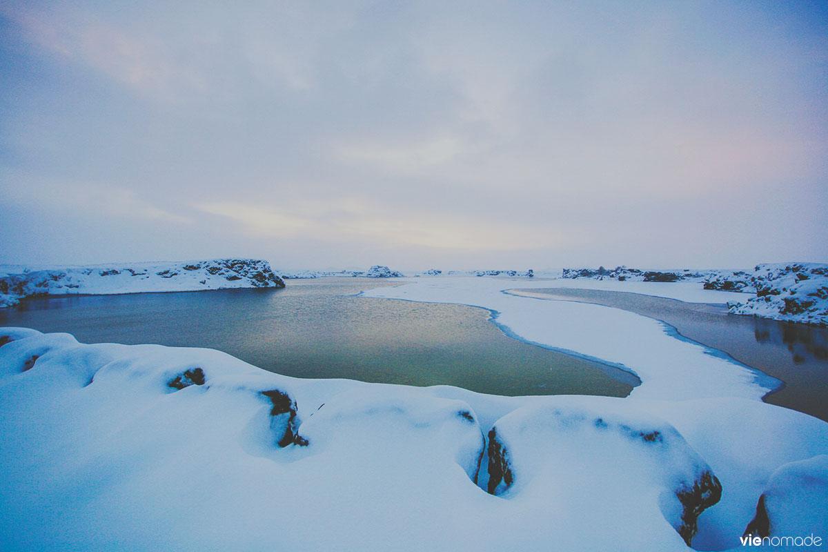 Lac Myvatn en hiver