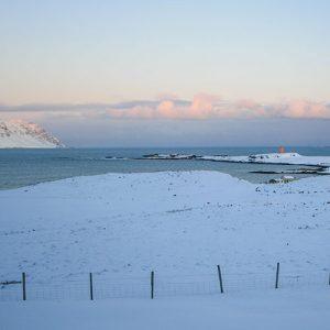 Les fjords de l'est en Islande, en hiver