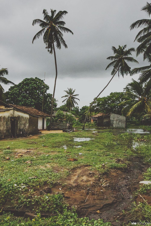 Baraques à Kalutara, Sri Lanka