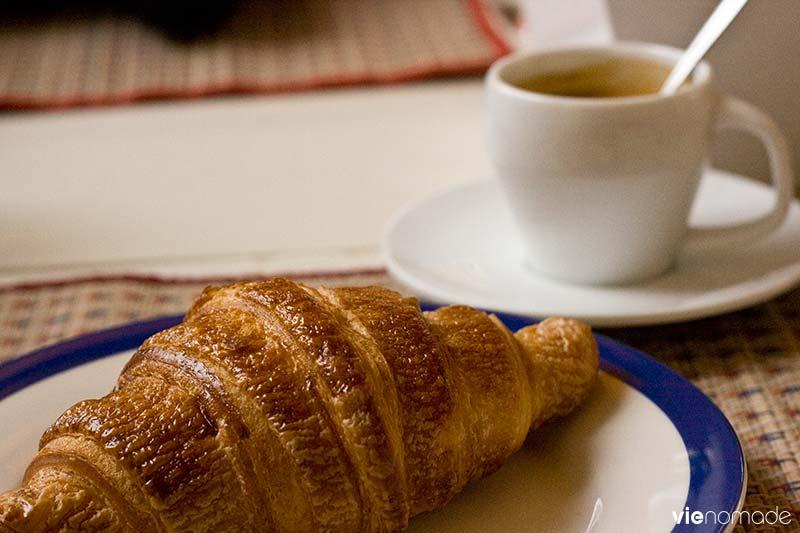 Les croissants français à Vientiane