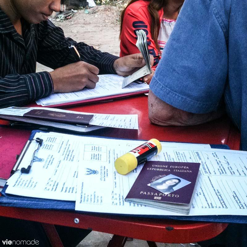 Visa run pour la Thaïlande à Vientiane, au Laos