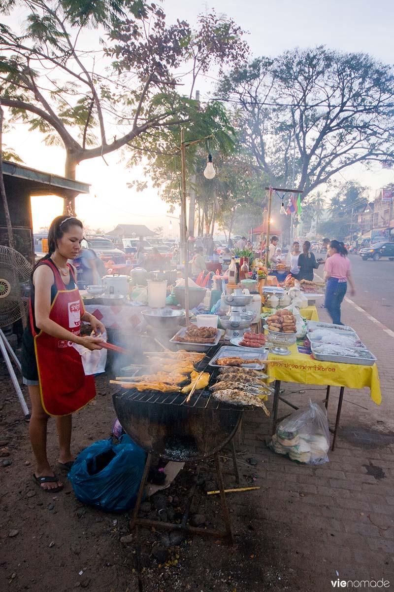 Street food à Vientiane, Laos