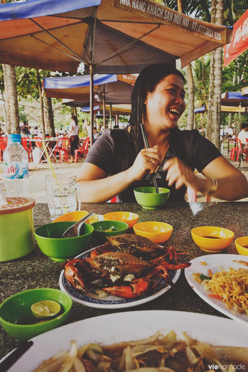 Manger à Ha Tien au Vietnam