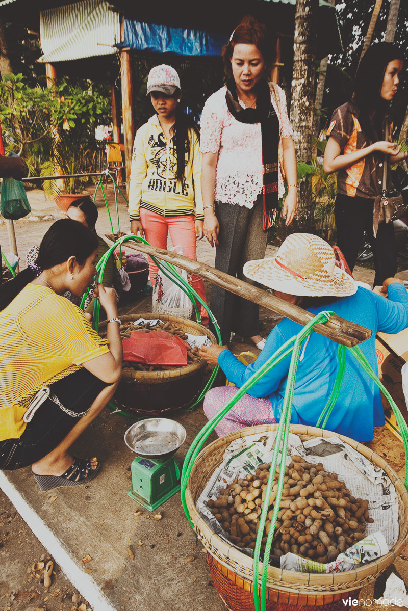 Marché à Ha Tien, Vietnam