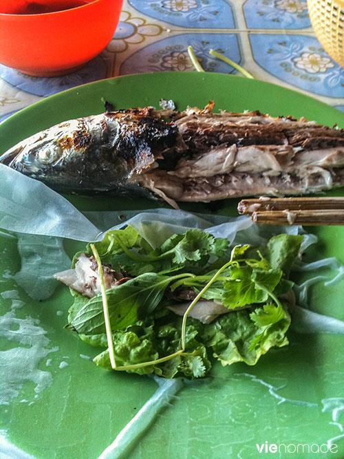 Poisson frais grillé à Phu Quoc