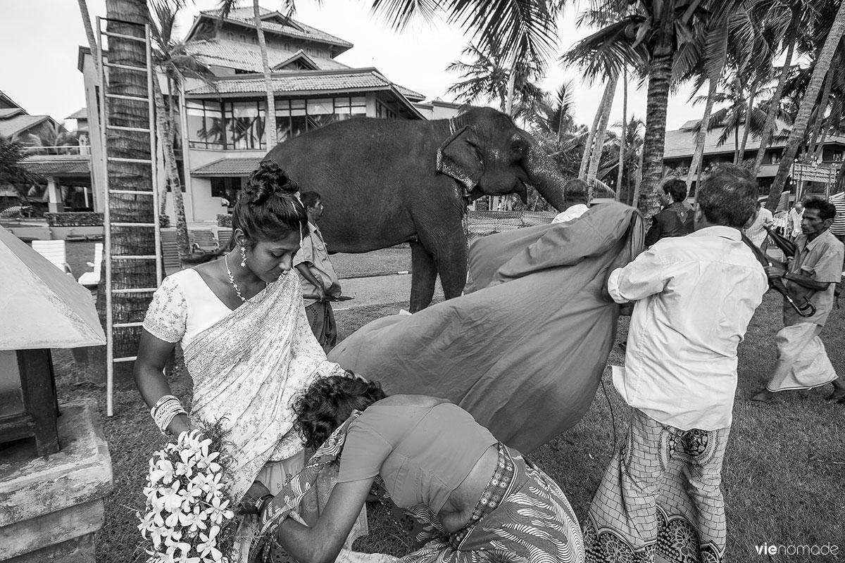 Mariage bouddhiste au Sri Lanka