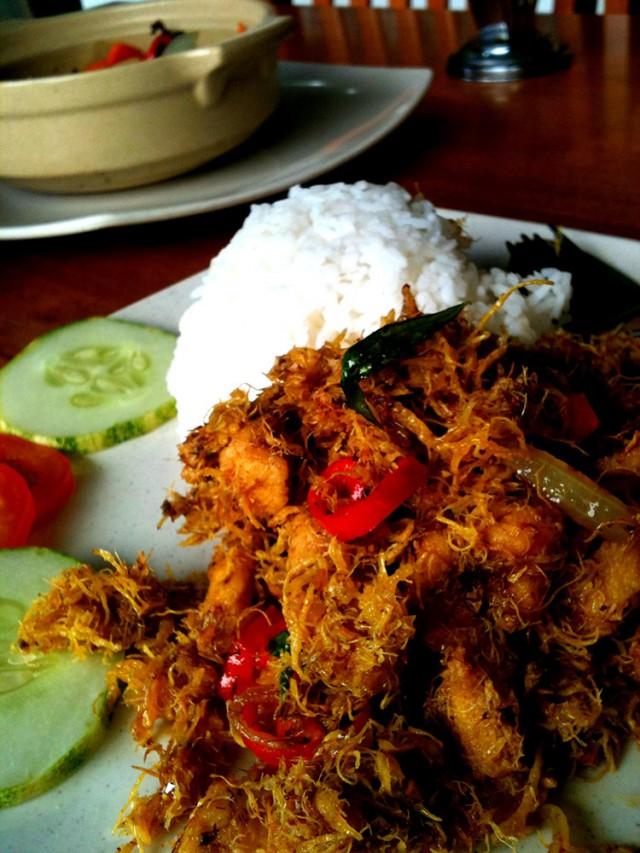 Un plat malaisien à Kota Kinabalu