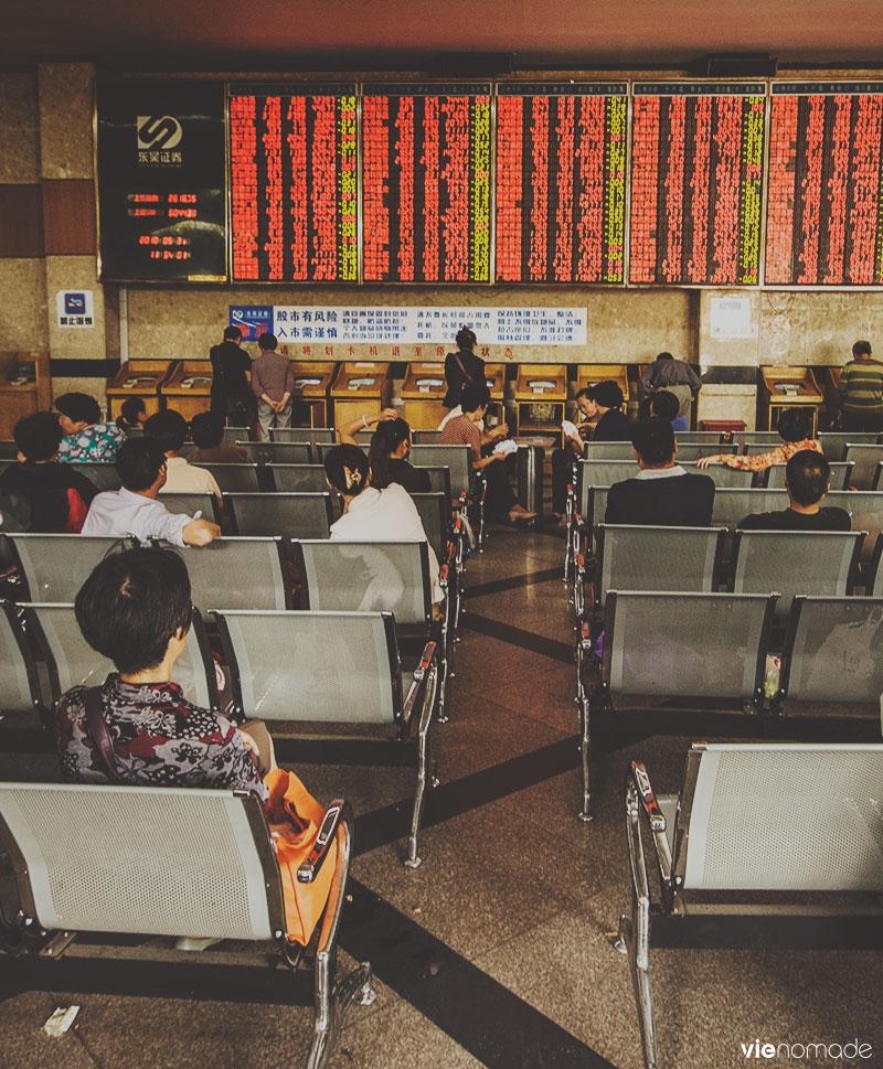 La bourse de Suzhou, Chine