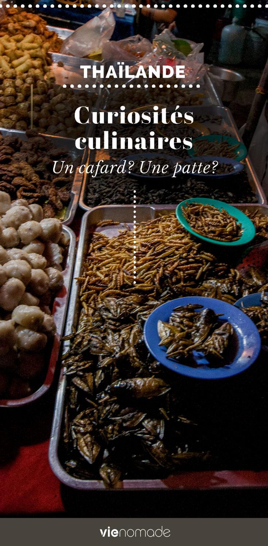 Manger des insectes et autres plats bizarres de Thaïlande