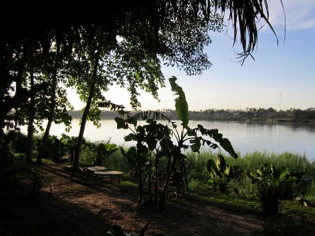 Le jardin de Mut Mee, au bord du Mékong