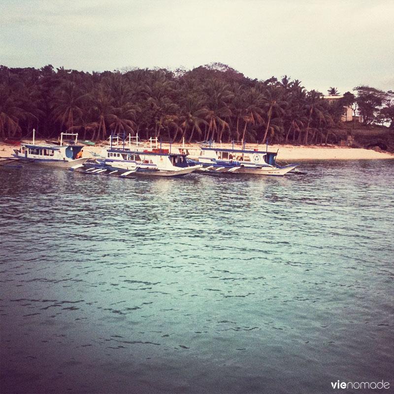Bateaux amarrés, Boracay