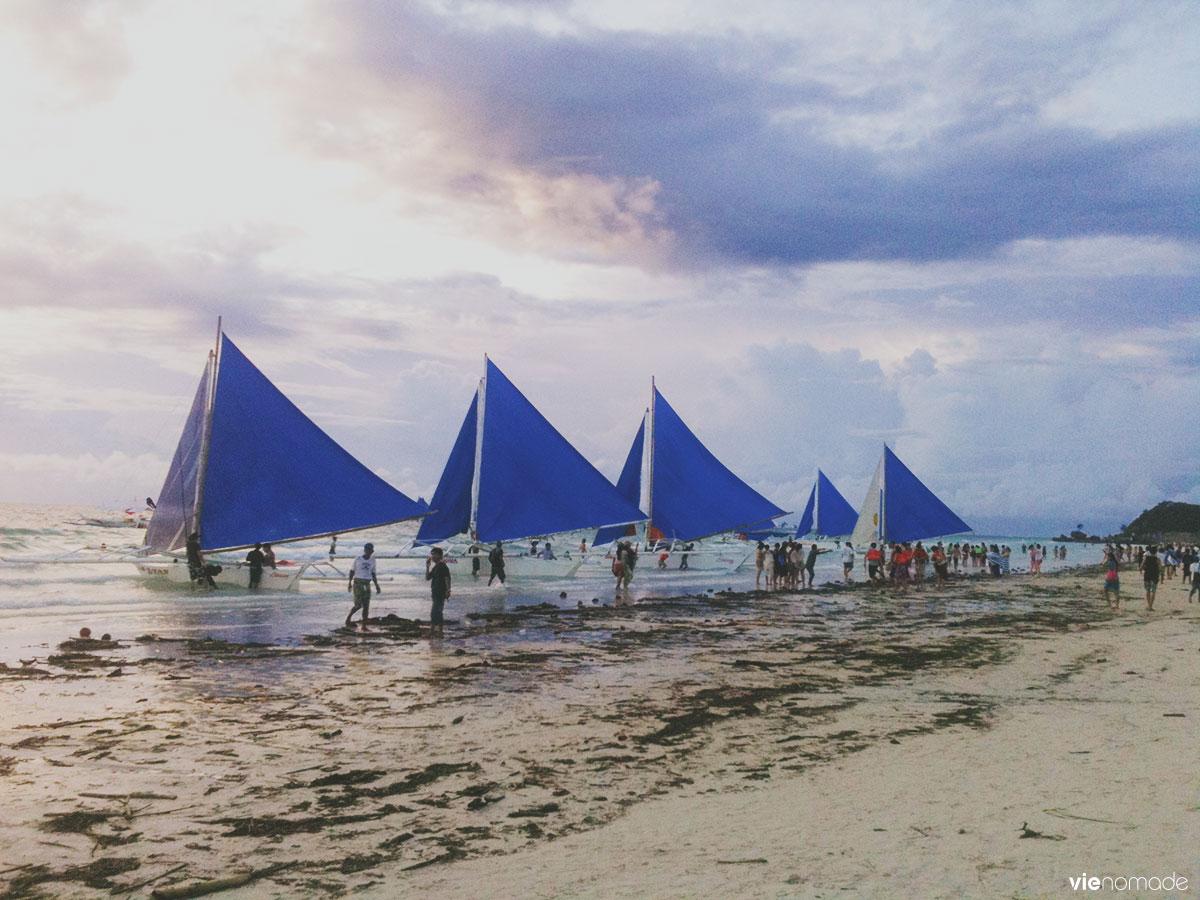 Sunset sail: voile à Boracay