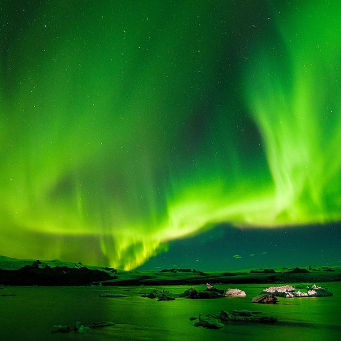 Où et comment voir une aurore boréale en Islande