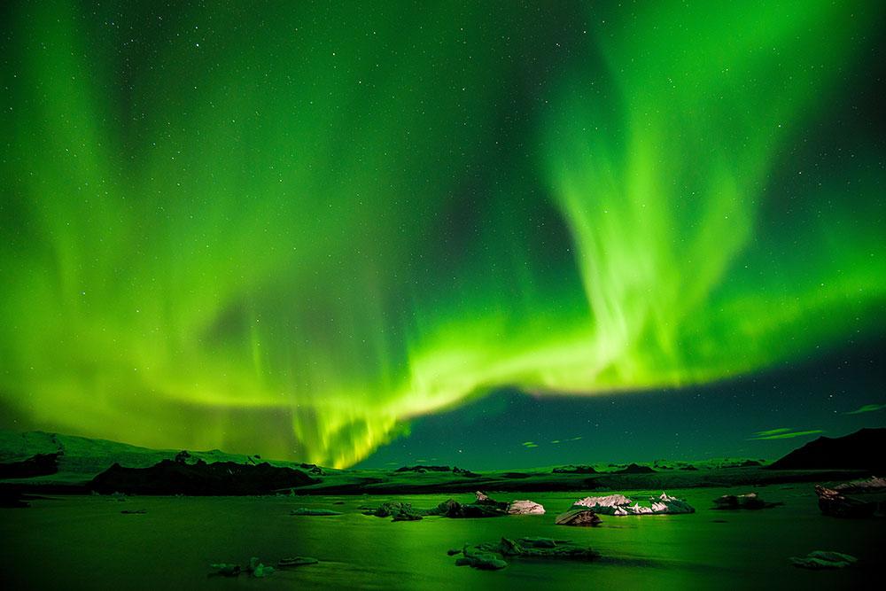 Comment voir les aurores boréales en Islande