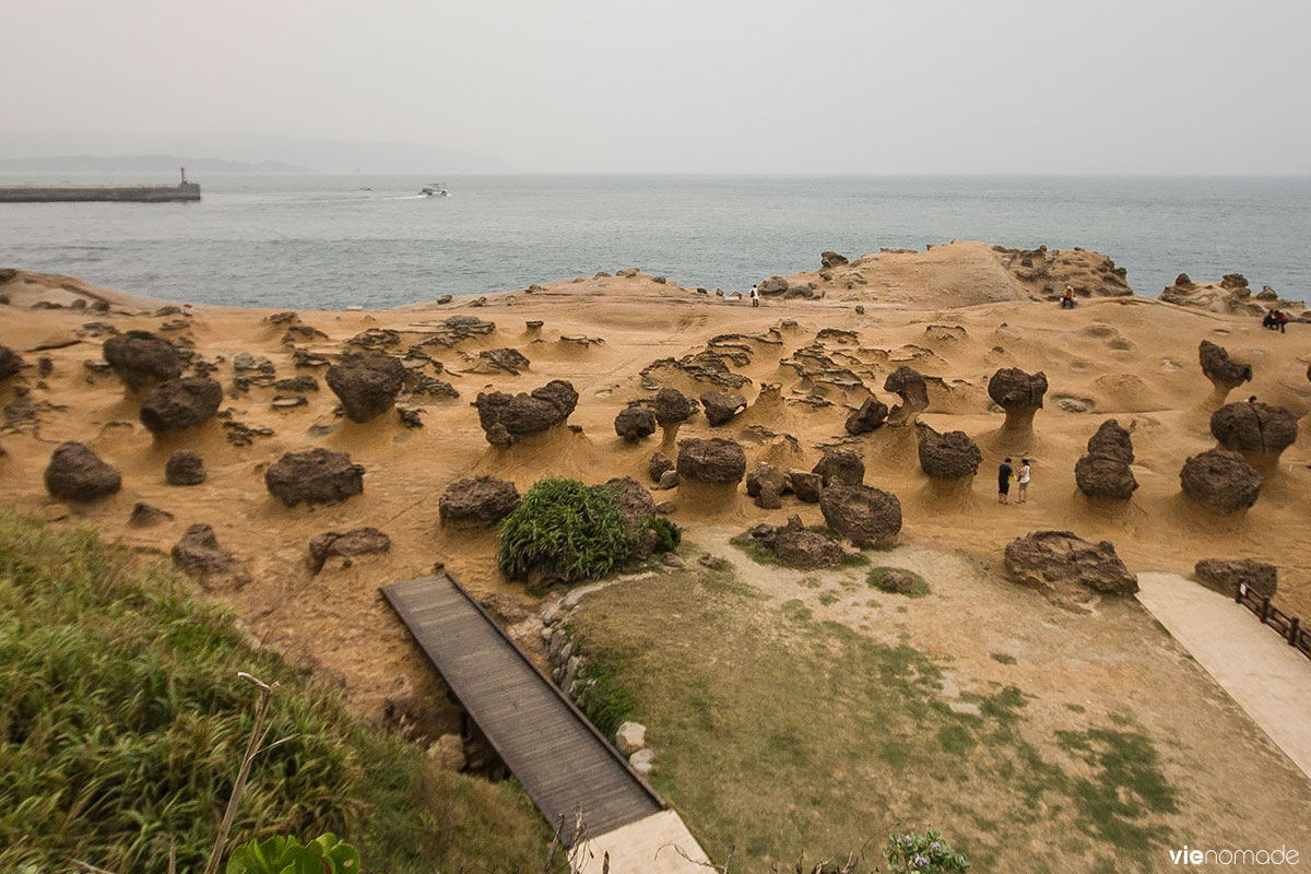 Parc géologique de Yehliu à Taïwan