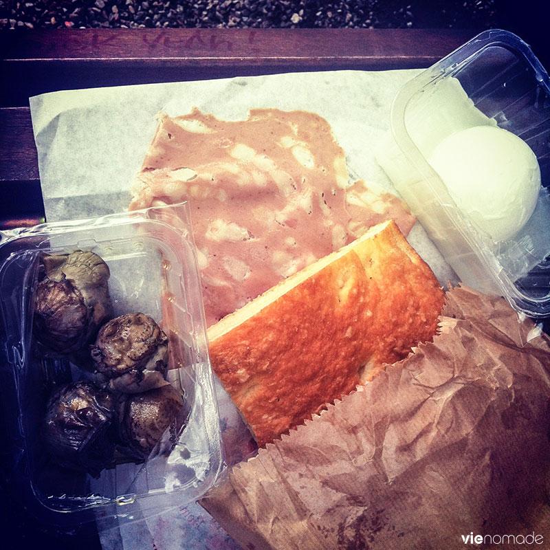 Manger à Sienne, un spuntino du marché
