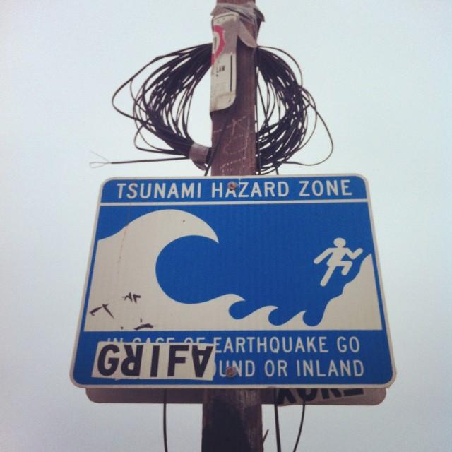 Panneau alerte tsunami