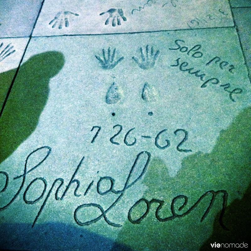 Sophia Loren sur le Walk of Fame