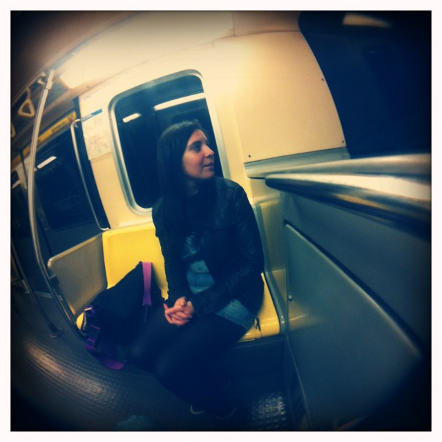 Là j'ai de la chance, le métro est vide...