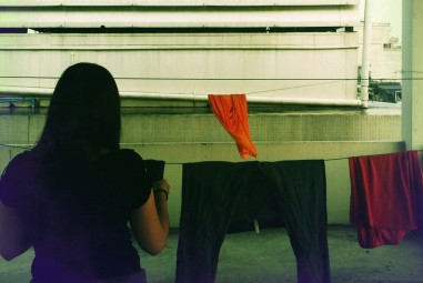 La lessive, voilà une chose qu'il faut apprendre à aimer quand on est nomade.