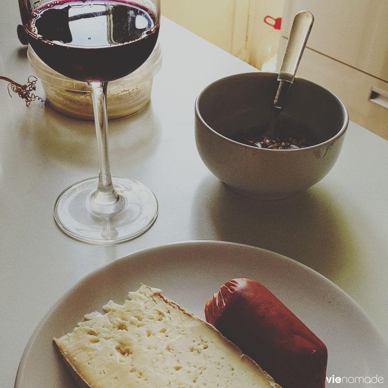 Fromage, vin et charcuterie des Canaries