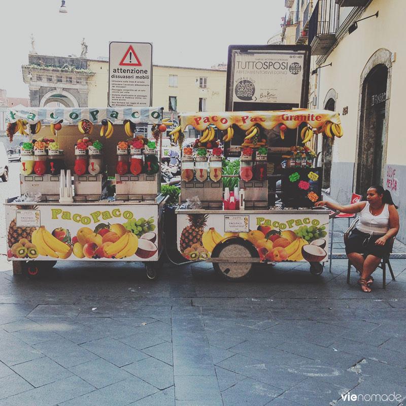 Stand de granita à Naples