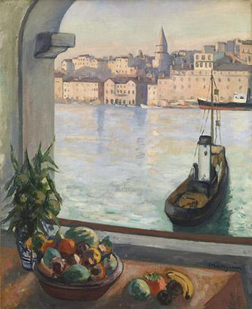"""Henri-Charles Manguin """"Fenêtre sur le Vieux-Port, Marseille"""""""