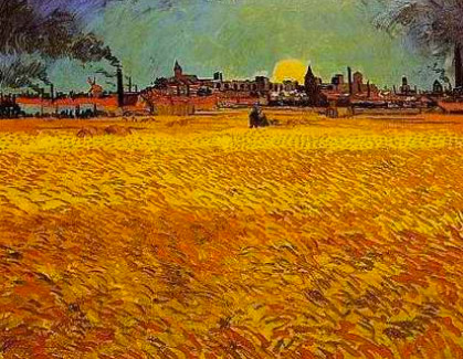 """Vincent Van Gogh, """"Champ de blé, Arles"""""""
