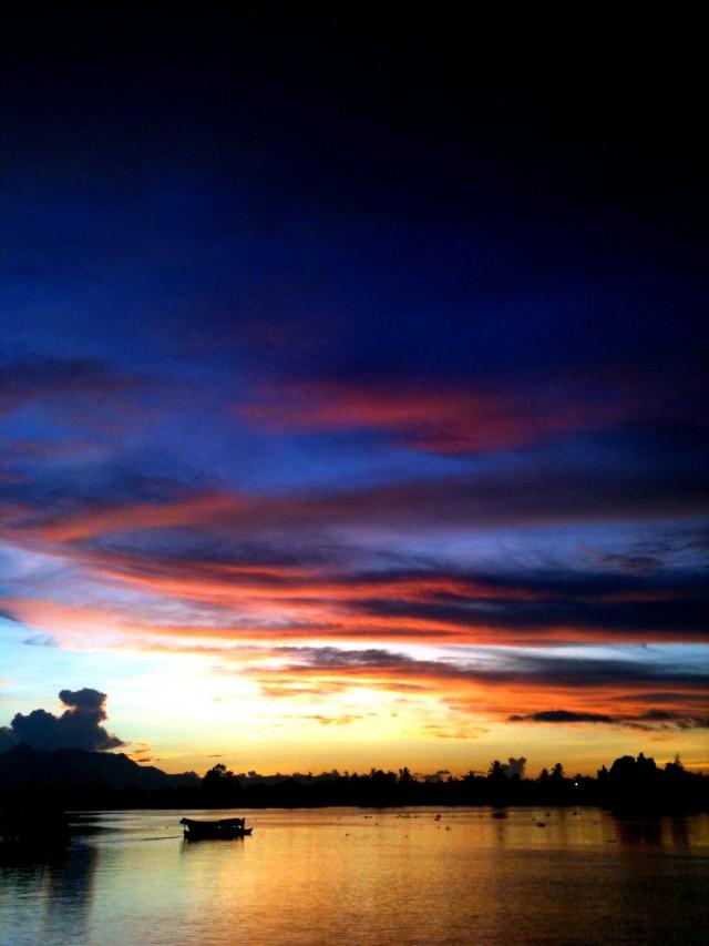 Glorieux coucher de soleil sur Kuching