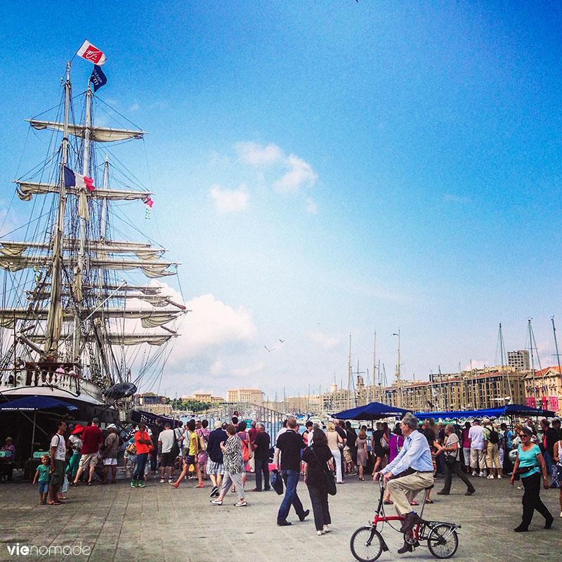Port de Marseille, avec le Belem