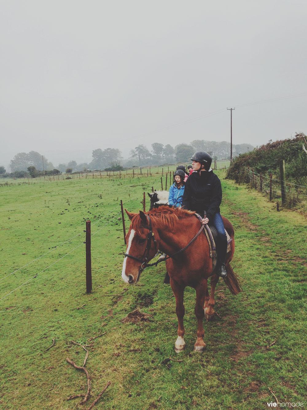 Equitation dans le Wicklow en Irlande