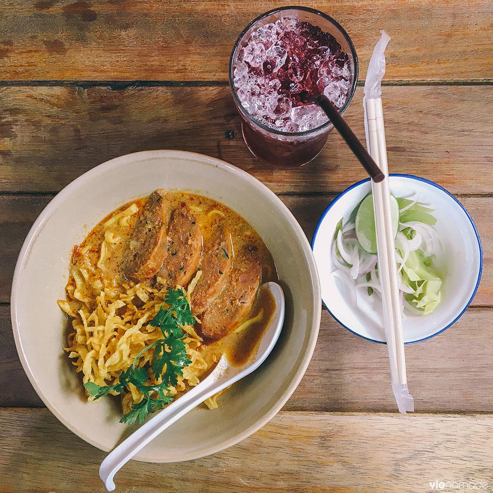 Manger en Thaïlande: le khao soy, une spécialité du nord
