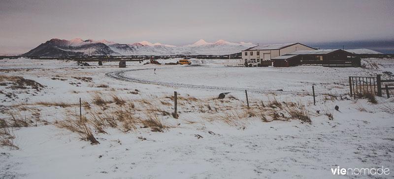 Borgarnes, Islande, en hiver