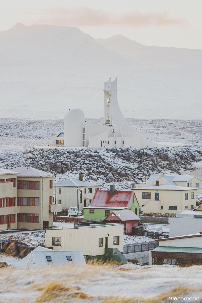 L'église de Stykkisholmur, Islande