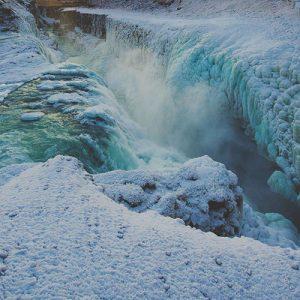 Islande en hiver: Gullfoss et Geysir