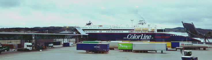 Ferry ColorLine de Larvik à Hirtshals