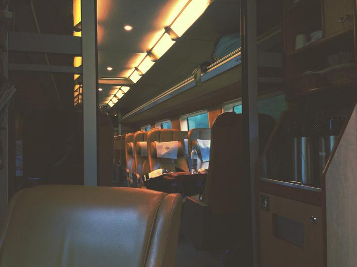 Train en Norvège, première classe