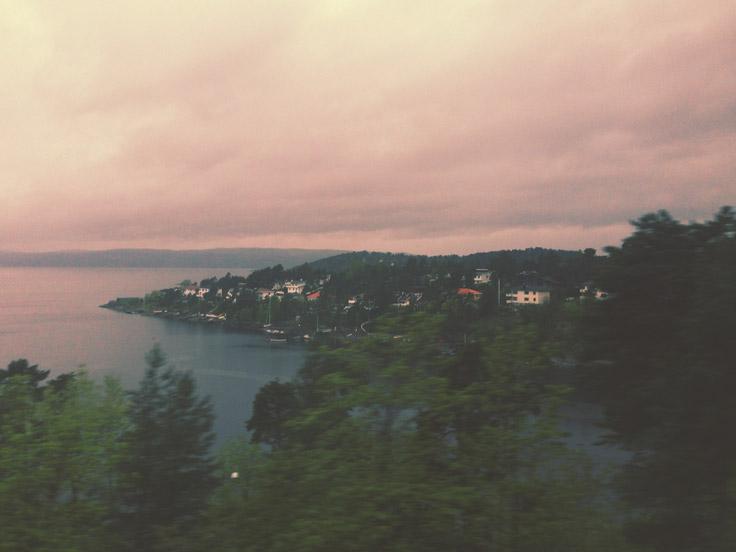 Oslo vue du train, Norvège