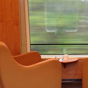 En train vers la Norvège