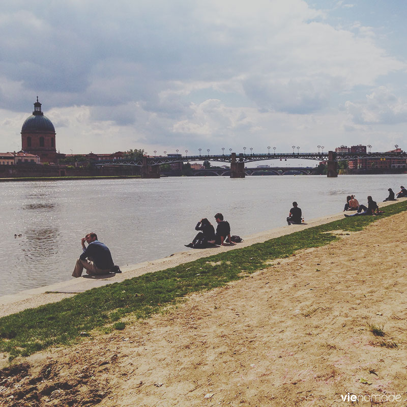 Les bords de la Garonne à Toulouse
