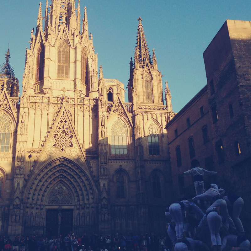 Un castell à Barcelone