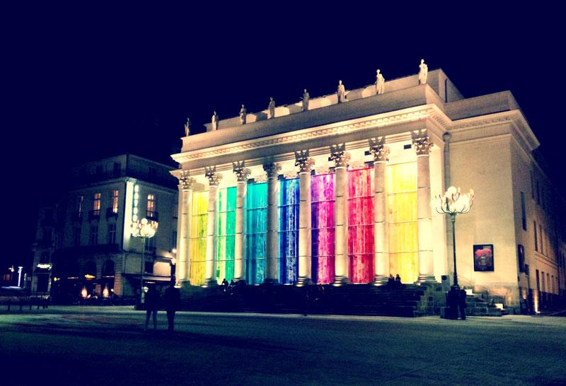 Nantes la nuit, Place Graslin