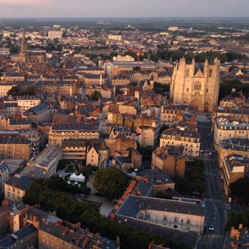 Nantes vue d'en-haut
