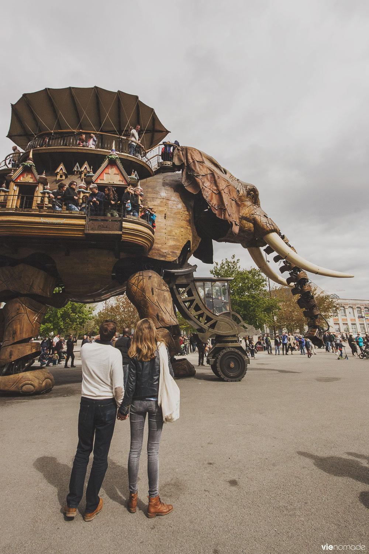 L'éléphant de Nantes, les machines de l'île