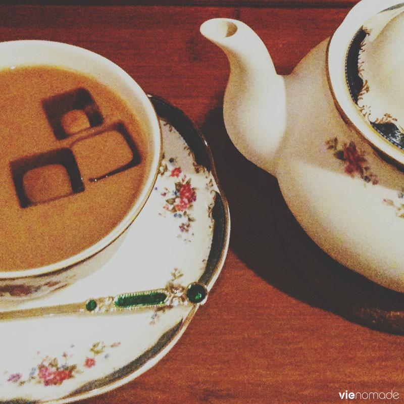 Prendre un thé dans le vieux Taipei